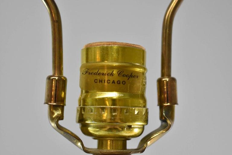 Frederick Cooper Tall Brass Candlestick Buffet Lamp Circa