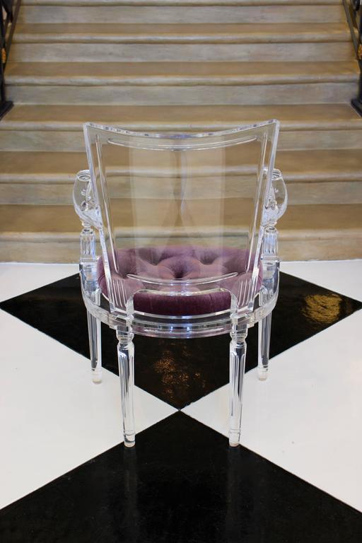 Italian Contemporary Marilyn Acrylic Armchair For Sale