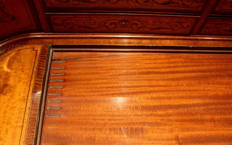 Georgian Adams-Style Carlton House Marquetry Inlaid Desk by Edwards and Roberts For Sale 1