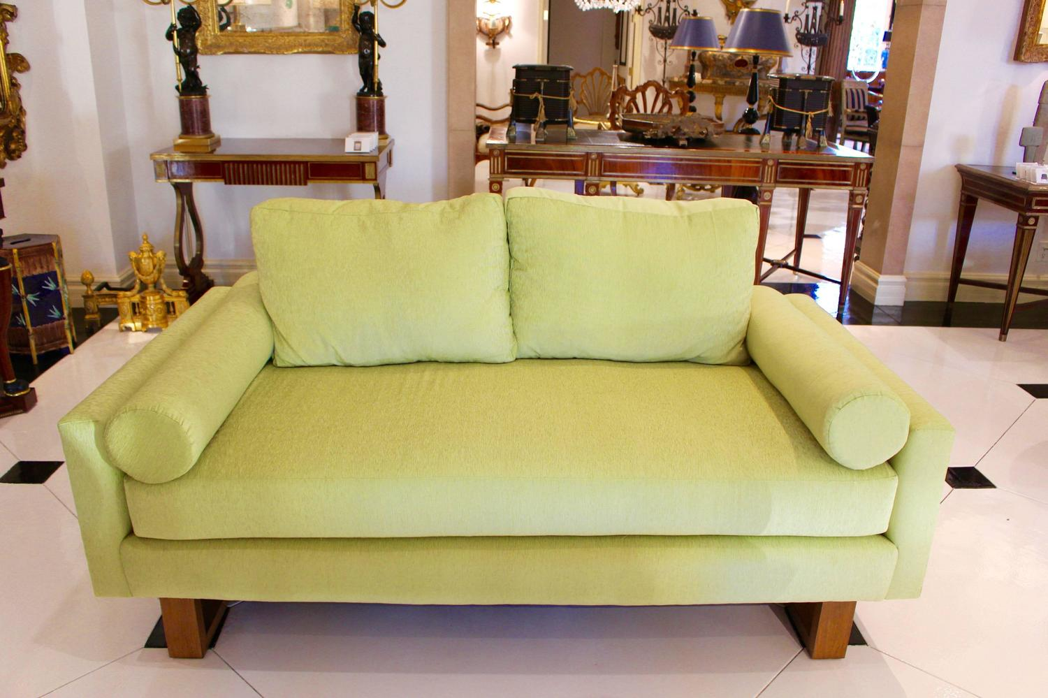Mid Century Green Lime Sofa For Sale At 1stdibs