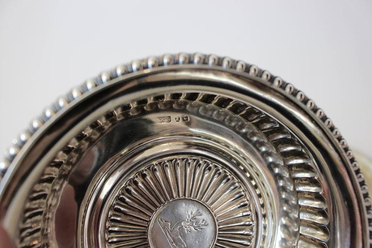 British Set of Four George III Silver Wine Coasters with Mark of J.W. Storey, London For Sale
