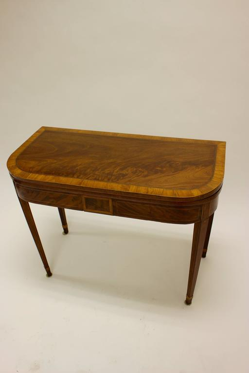 George Iii Inlaid Light Toned Mahogany And Satinwood Games Table For Sale At 1stdibs