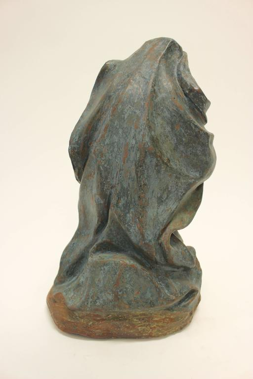 18th Century Continental Polychrome Terracotta Sculpture of the Kneeling Virgin For Sale 2