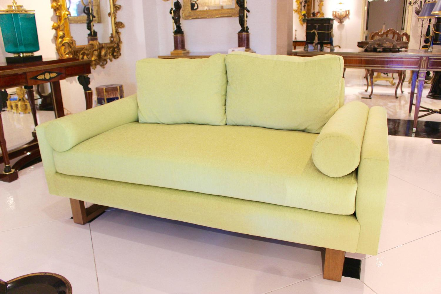 Mid-Century Green Lime Sofa For Sale At 1stdibs