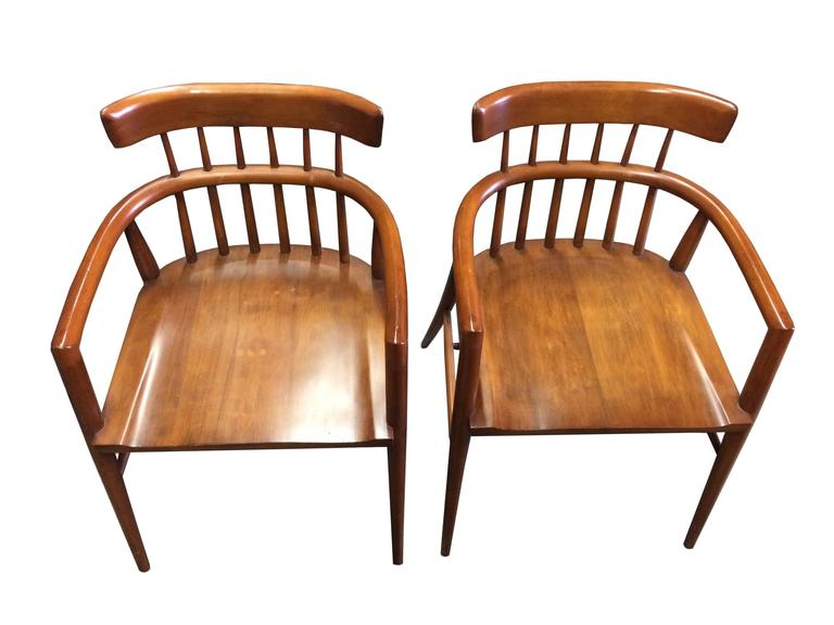 "A gorgeous pair of all original Paul McCobb armchairs from the Winchendon ""Planner Group"" line. A wonderful, Classic Windsor style design that can complement many interior spaces."