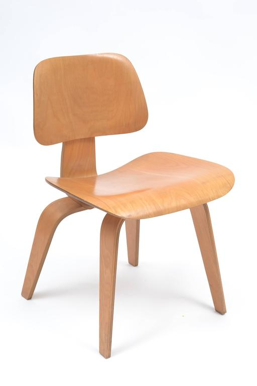 A Stunning, All Original Set Of Well Preserved Eames Designed DCW Chairs  Produced In The