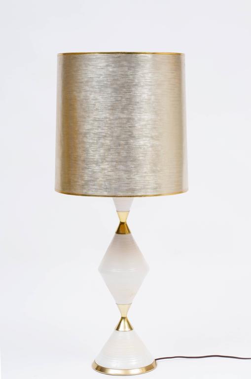 Porcelain Table Lamp By Gerald Thurston For Lightolier