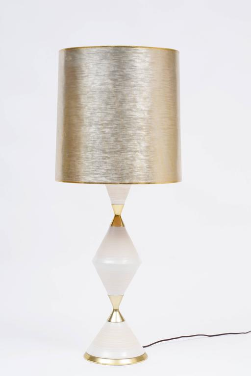 Porcelain Table Lamp By Gerald Thurston For Lightolier