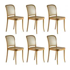 "Set of Six Josef Hoffmann ""Prague"" Bentwood Chairs for Stendig, 1960s"