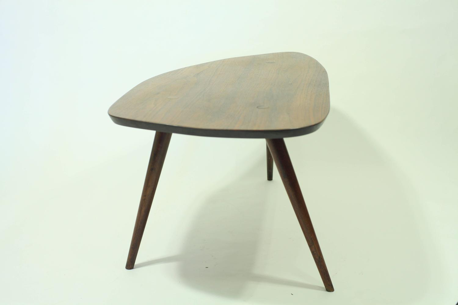 Solid Walnut Coffee Table Attributed To Phillip Lloyd Powell At 1stdibs