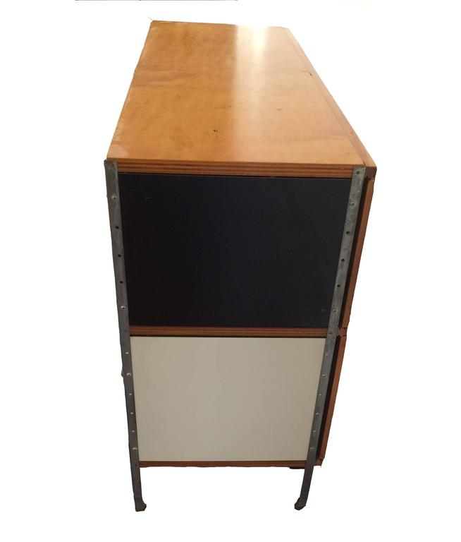 Pressed Early Herman Miller ESU, Eames Storage Unit, Designed by Charles and Ray Eames For Sale