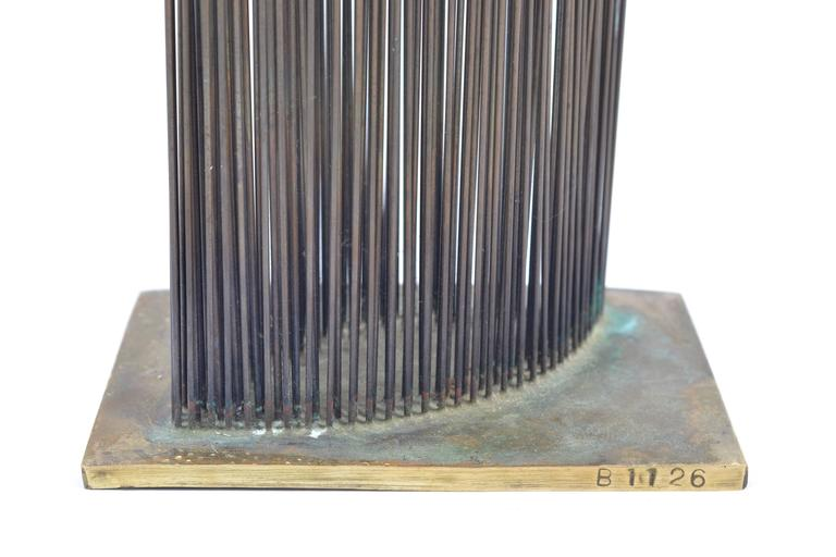 American Bertoia Studio Sonambient Sculpture Featuring 176 Harry Bertoia Rods For Sale