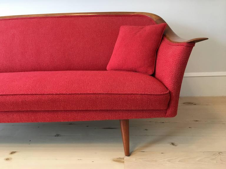 Wool Mid-Century Norwegian Sculptural Sofa by Fredrik Kayser for Vatne  For Sale