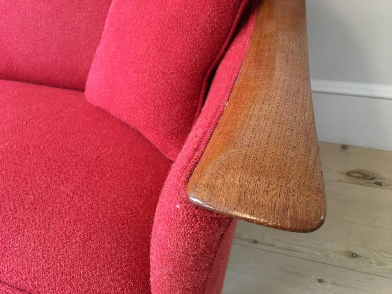 Mid-Century Norwegian Sculptural Sofa by Fredrik Kayser for Vatne  For Sale 1