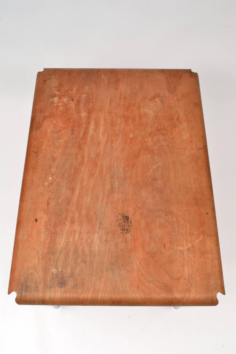 Important 1940s Eames Molded Plywood Table For Evans