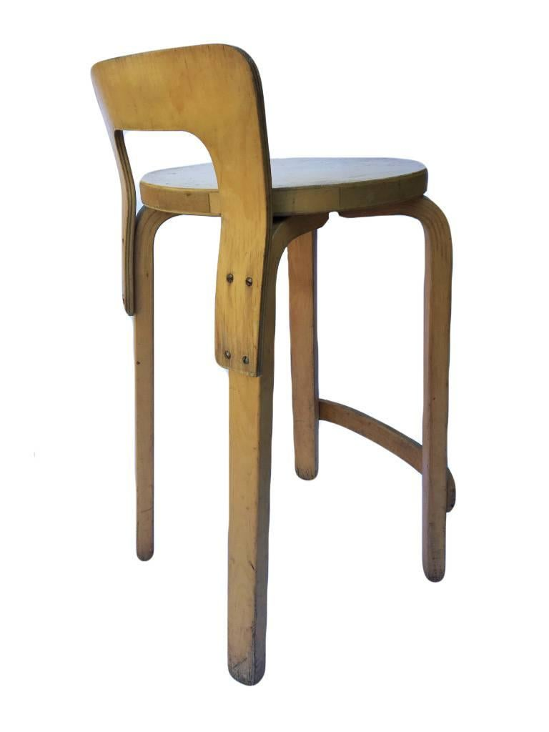 Beautiful Stool Designed By Finnish Architect Alvar Aalto