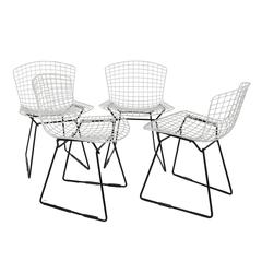 Set of Seven Harry Bertoia Side Chairs for Knoll