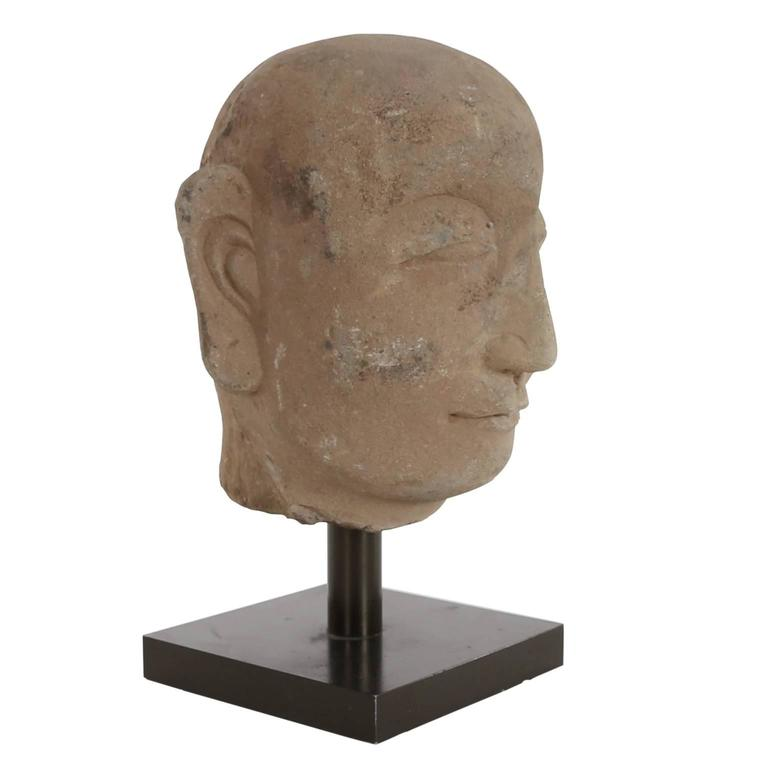 Chinese carved stone head for sale at stdibs