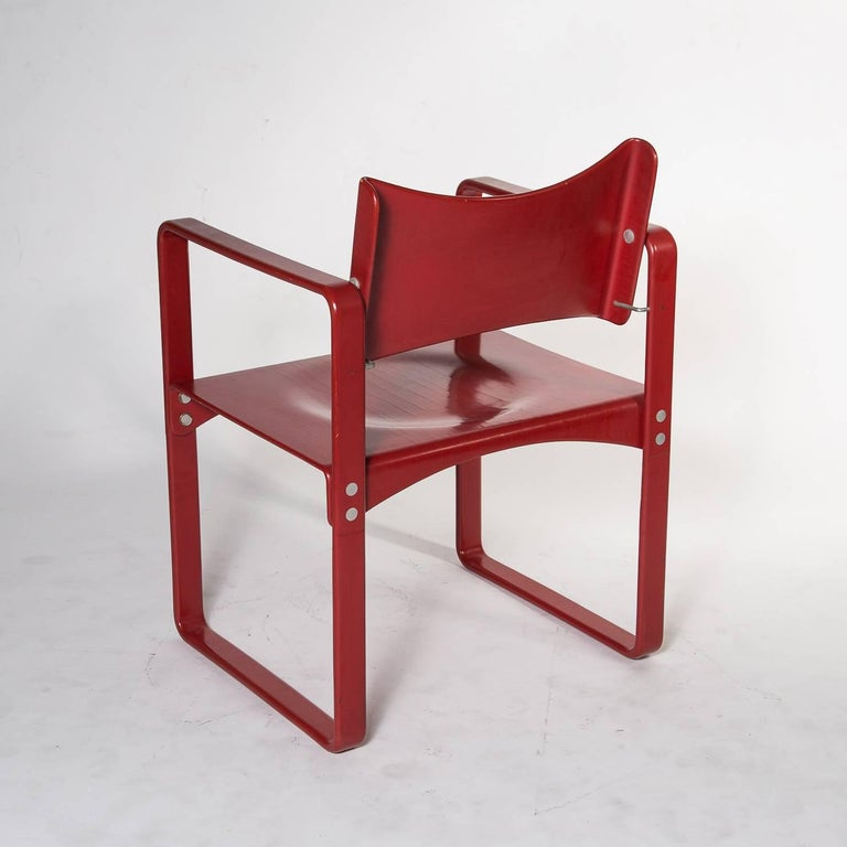 red verner panton no 271 dining chair for thonet germany circa 1970 for sale at 1stdibs. Black Bedroom Furniture Sets. Home Design Ideas