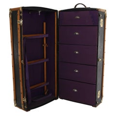 Large Antique Wardrobe Steamer Trunk from, circa 1920