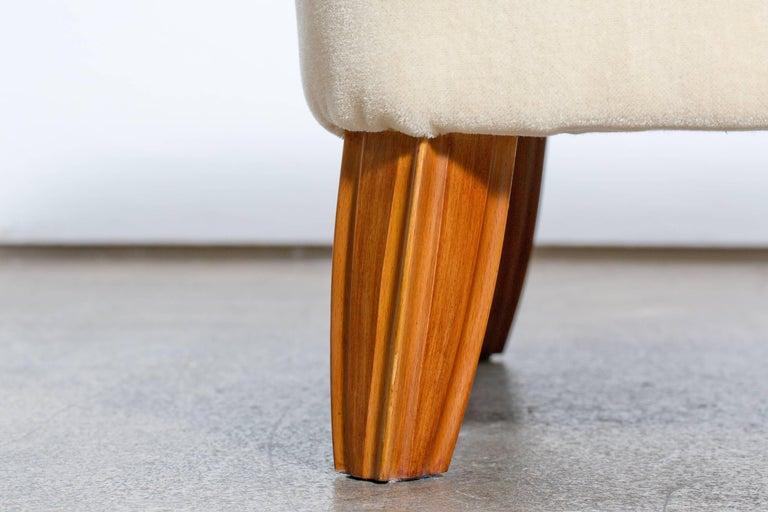 Italian Design Gio Ponti Style Mid Century Wingback Armchair With