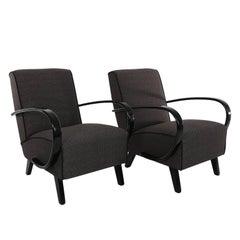 Pair of Jindrich Halabala Lounge Chairs, 1930s