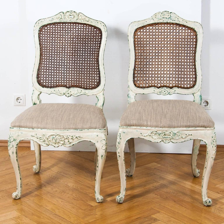 19th century pair of louis xv style chairs new patina in the gustavian style for sale at 1stdibs - Louis th chairs ...