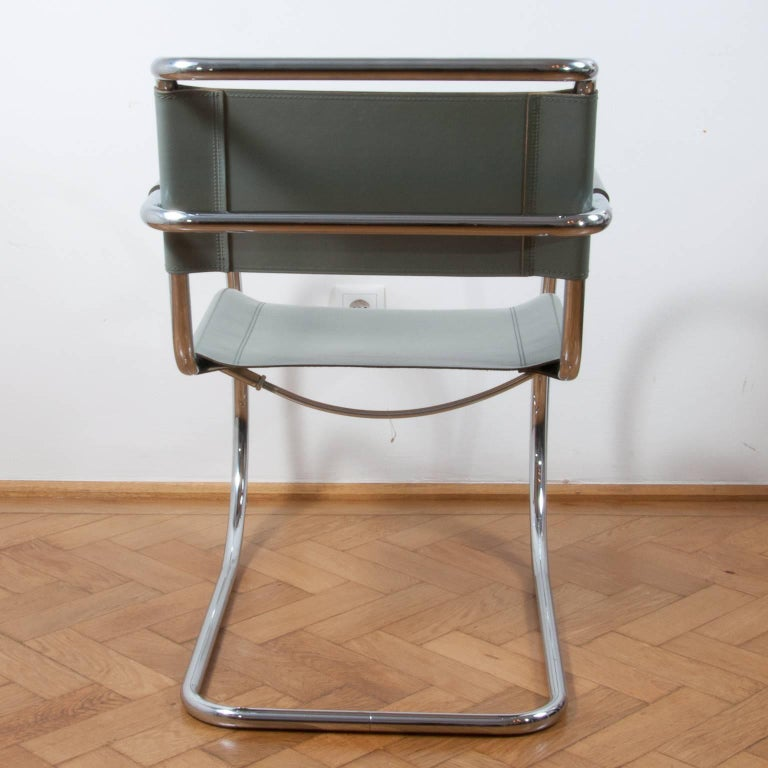 20th Century Thonet S533 Cantilever Chair, Armchair, Lounge Chair Designed by L. Mies vd Rohe For Sale