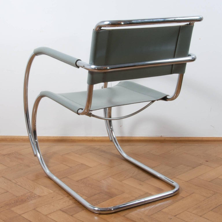 Steel Thonet S533 Cantilever Chair, Armchair, Lounge Chair Designed by L. Mies vd Rohe For Sale
