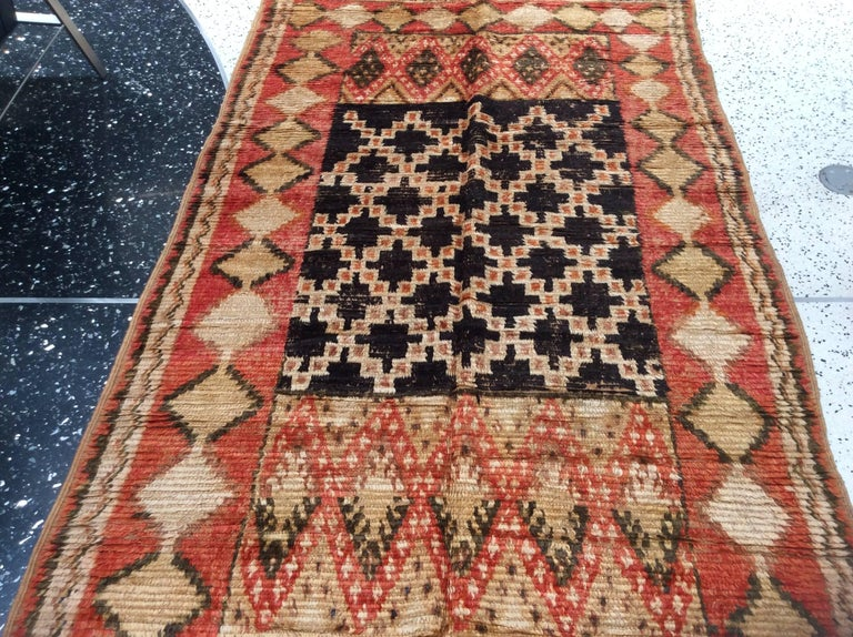 20th Century Vintage Moroccan Rug For Sale