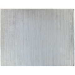 Ivory Stripe Wool Area Rug