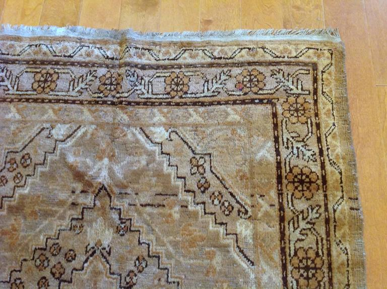 Hand-Knotted Vintage Samarkand Rug For Sale