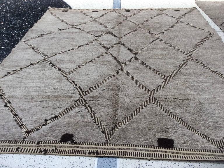 Gray Moroccan Berber Rug For Sale At 1stdibs