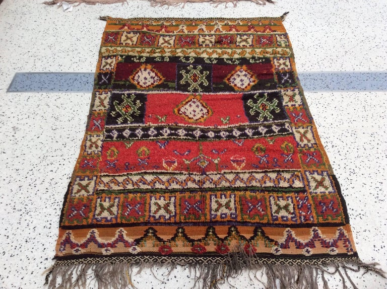 Rustic Moroccan Rug For Sale At 1stdibs