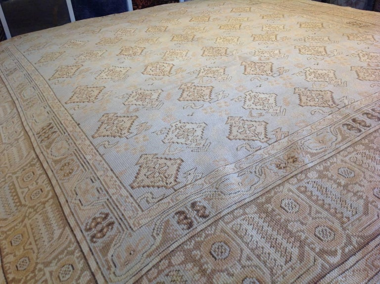 Hand-Knotted Transitional Euro Design Rug For Sale