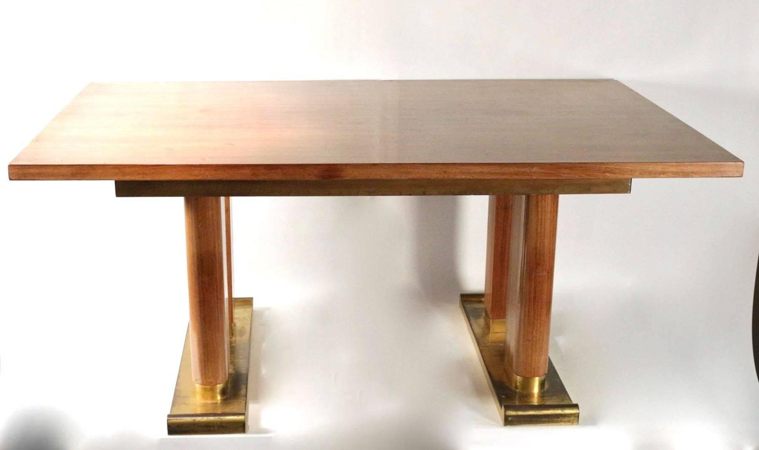 Dining room table by de coene belgium 1940s gilded for Most beautiful dining room tables