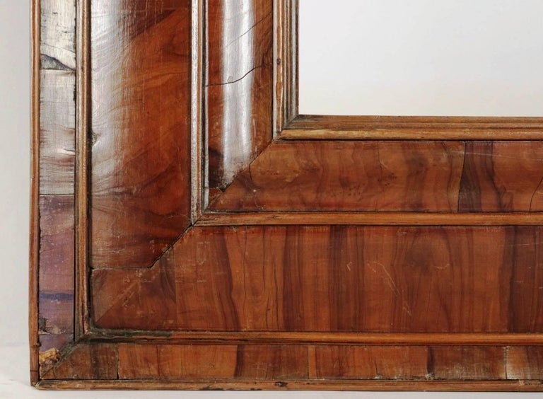 Dutch Extraordinary 17th Century, Frame Mounted as Mirror, Nutwood Veneer, Spectacular For Sale