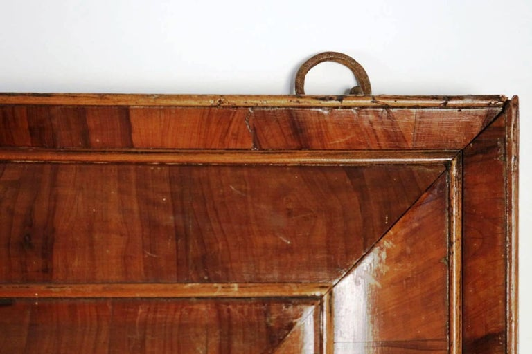 Chestnut Extraordinary 17th Century, Frame Mounted as Mirror, Nutwood Veneer, Spectacular For Sale