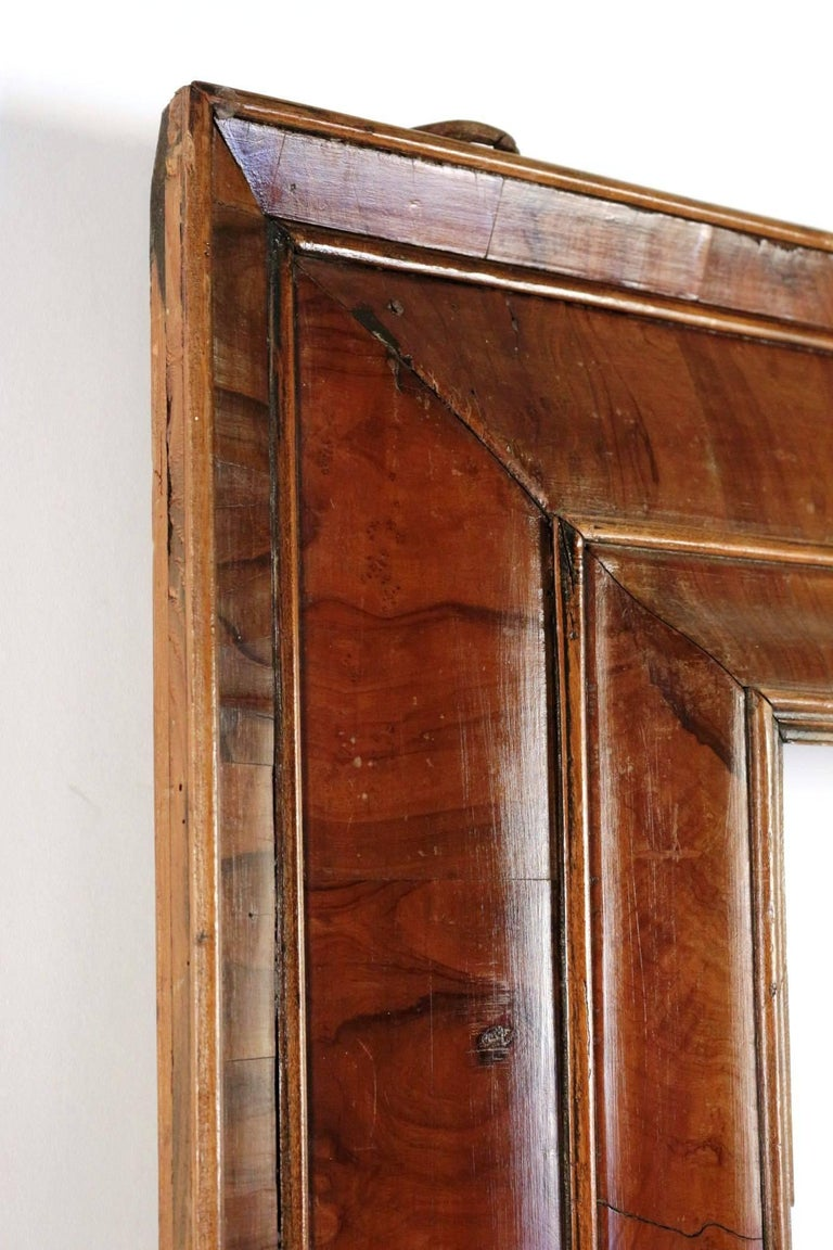 Extraordinary 17th Century, Frame Mounted as Mirror, Nutwood Veneer, Spectacular For Sale 1