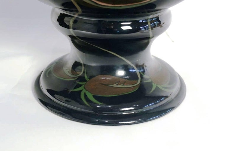 Dutch Fabulous and Rare Large Art Nouveau Vase, Tulips and Iris, by Adrianus De Jong For Sale