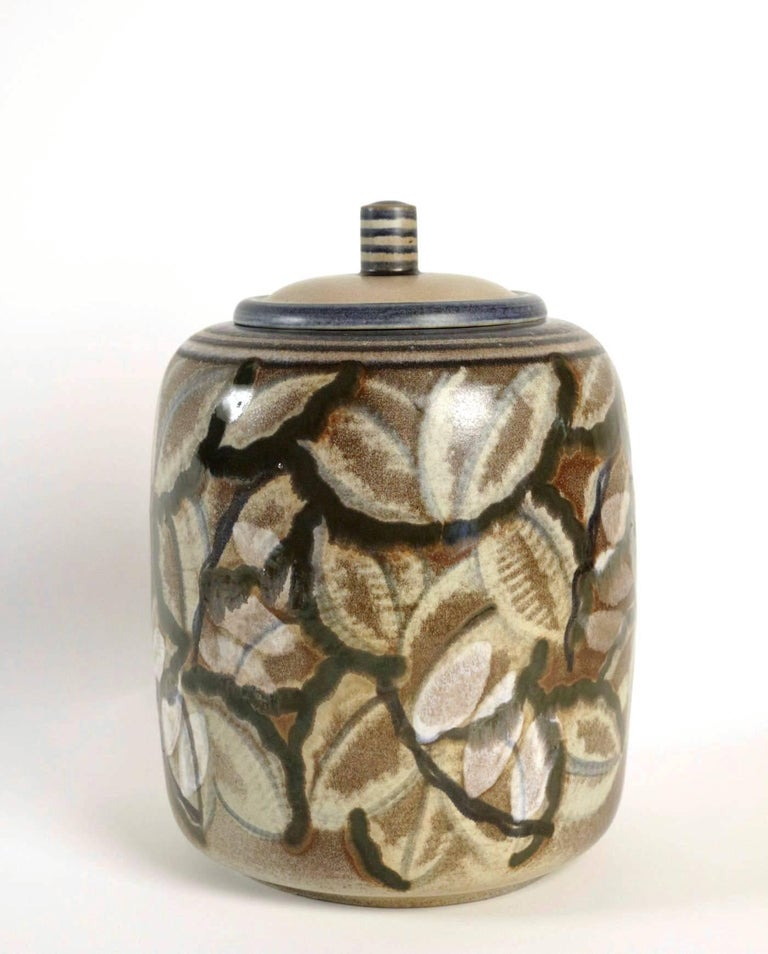 French Manufacture De Sèvres, Large Pot, Shape by Gensoli, Design by André Naudy, 1933 For Sale
