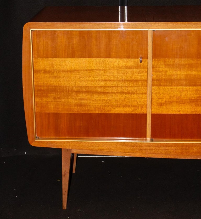French Fabulous Large Sideboard by Roger Landault, France, 1950s, Probably Ashtree For Sale