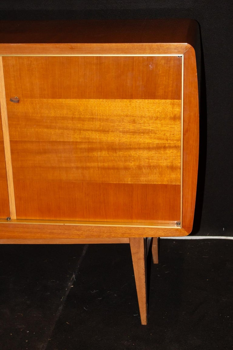 Fabulous Large Sideboard by Roger Landault, France, 1950s, Probably Ashtree In Excellent Condition For Sale In Saint-Ouen, FR