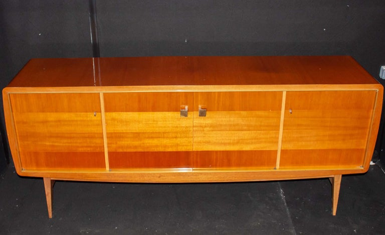 Fabulous Large Sideboard by Roger Landault, France, 1950s, Probably Ashtree For Sale 3