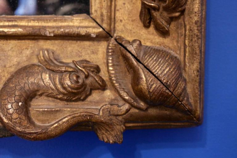 Carved French Royal Frame Mirror for the Grand Dauphin, circa 1670 For Sale