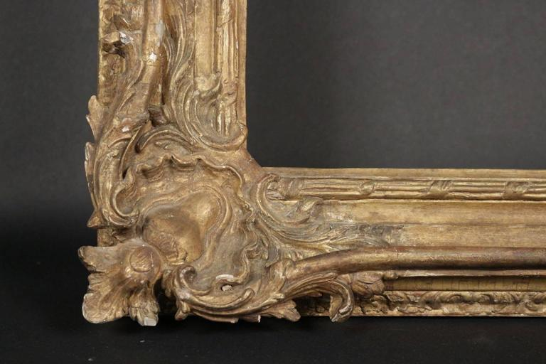 Exceptional Louis XV Period Royal Frame Mounted as Mirror, 18th Century 2