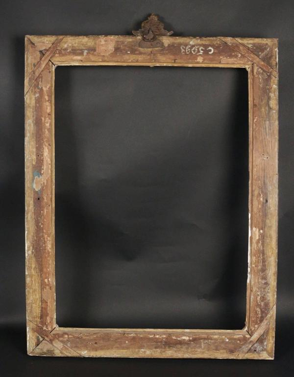 Exceptional Louis XV Period Royal Frame Mounted as Mirror, 18th Century 6