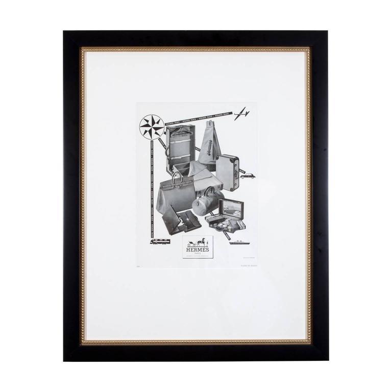 1930s Framed Hermes Print Ad At 1stdibs
