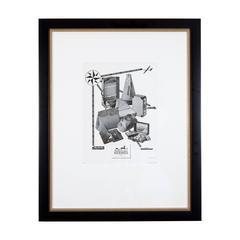 1930s Framed Hermes Print Ad