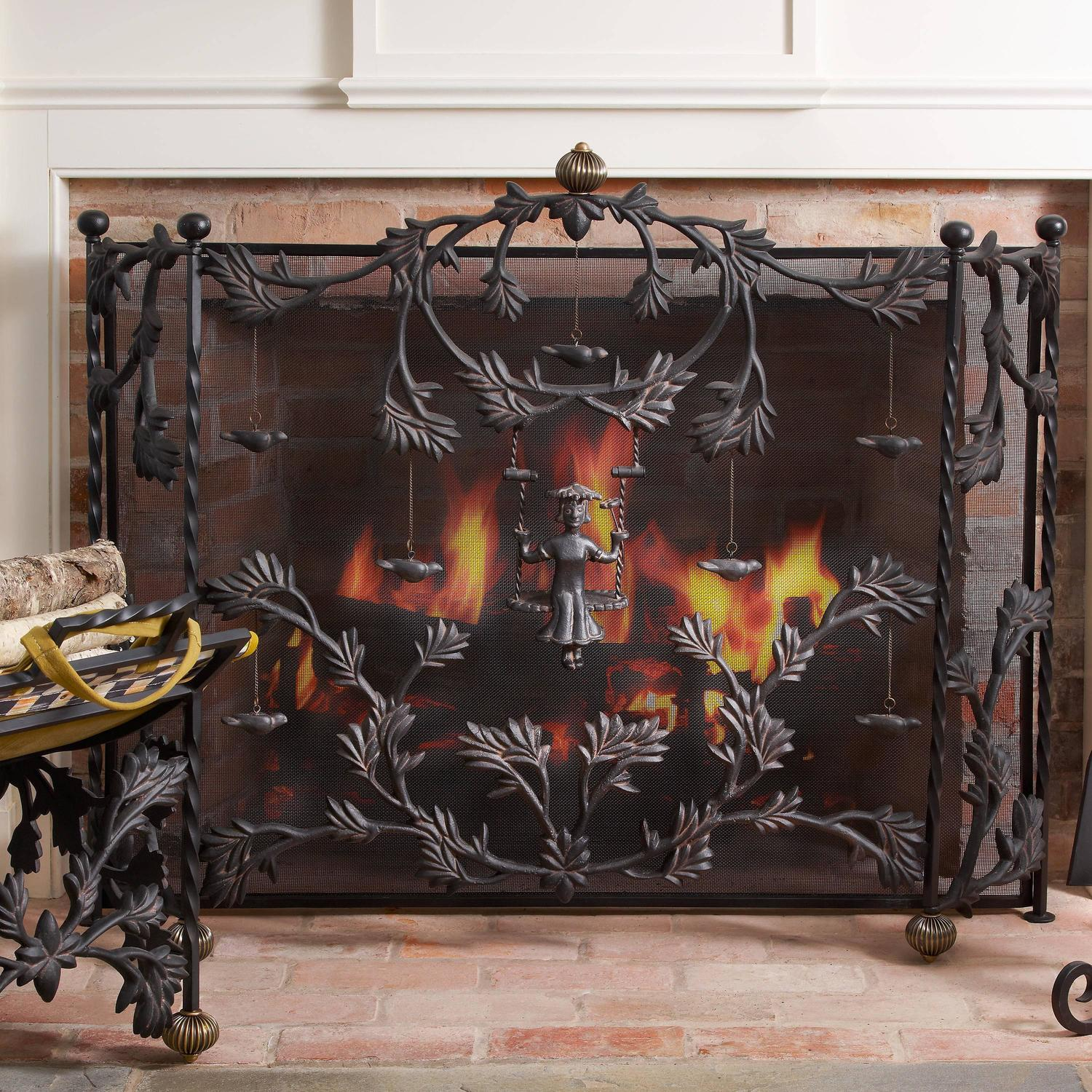 Mackenzie Childs Mrs Powers Iron Fireplace Screen For Sale At 1stdibs